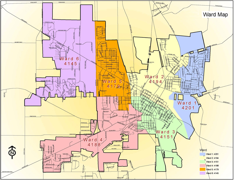 Map Of Troy Ward Maps | Troy, OH   Official Website