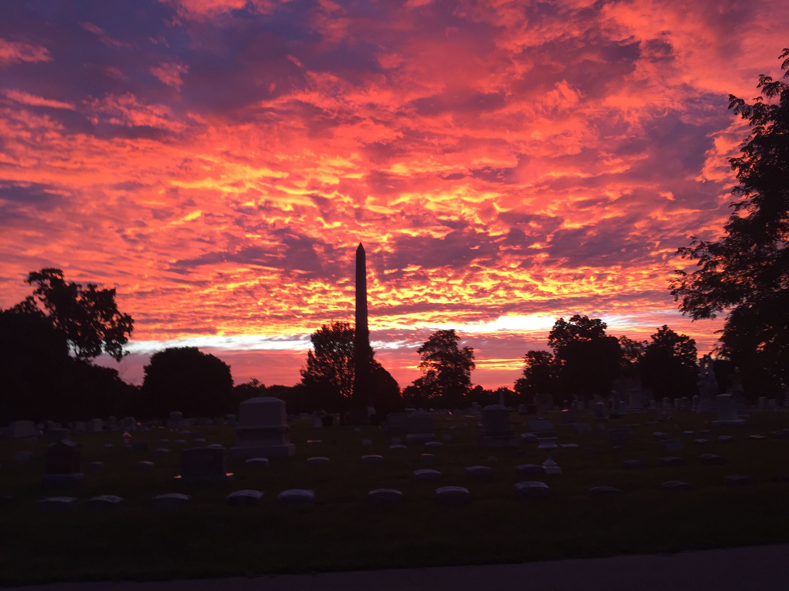 Riverside Cemetery Sunrise